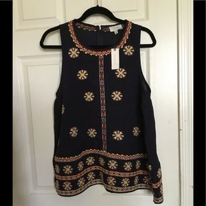 Anthropologie Harlyn Embroidered top sz.M $28